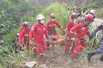 Policía reporta 16 muertos y 12 desaparecidos en vía a Caranavi