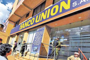 Banco Unión anuncia que se atenderá domingos y feriados