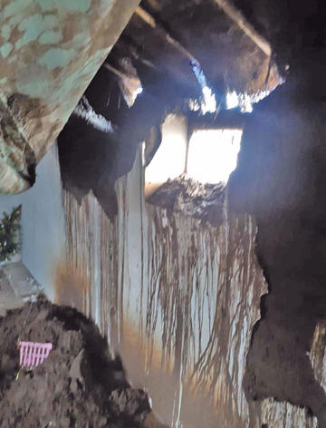 Las lluvias afectaron a cinco casas en poblaciones rurales