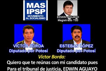 Opositor acusa a Borda de ayudar a Aguayo en las elecciones judiciales