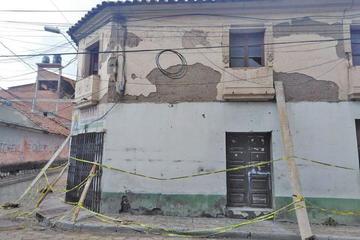 Vecinos piden expropiar las casas a punto de derrumbarse