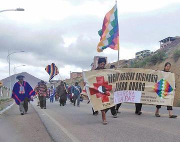 Indígenas caminan más de 700 kilómetros en busca de justicia