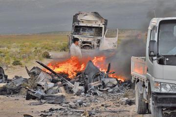 Enfrentamientos deja un fallecido, heridos y camiones quemados