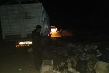 Contrabandistas intentan quitar la mercadería ilegal al Senasag