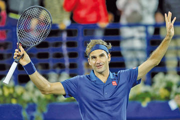 Federer buscará su título 100 en Dubái