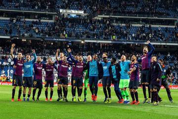 """Barcelona vence con los justo a Real en el """"Bernabéu"""""""