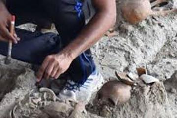 Hallan restos humanos en una fosa común de Sri Lanka antes de Cristo