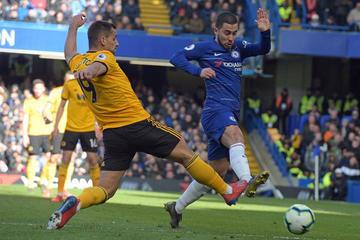 Hazard anota el gol del empate para Chelsea ante Wolverhampton