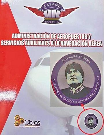 """Aclaran que el logo que califica a Evo de """"dictador"""" fue un error"""