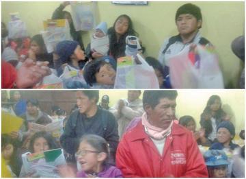 Dan material educativo a alumnos de dos escuelas