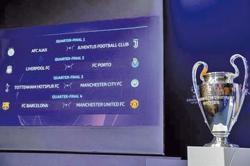 La Liga de Campeones define los choques de cuartos de final