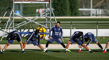 Argentina cumple su última práctica en Madrid