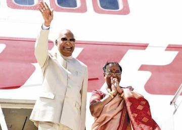Presidente de la India cierra su visita oficial y agradece a bolivianos