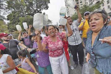 Sin luz ni agua, se generan las manifestaciones  en la capital venezolana