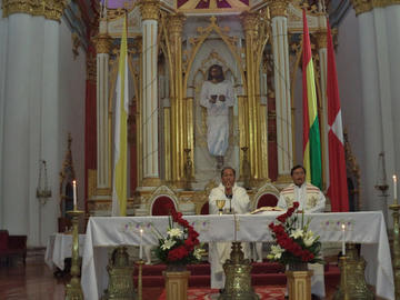 Iglesia católica pide trabajar para dejar obras en beneficio de Potosí