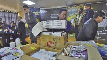 Falsificadores de medicamentos operaban desde hace cinco años