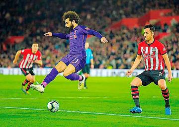 Salah pone fin a la sequía de goles en victoria de Liverpool sobre Southampton
