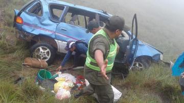 Accidente en ruta Apolo-Mapiri deja tres muertos