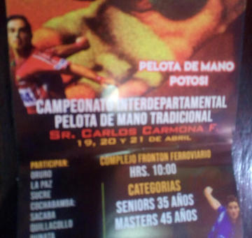 Potosí es sede del nacional de pelota de mano