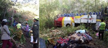 Accidente en el camino La Paz a Yungas deja al menos 25 muertos