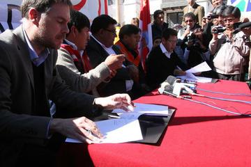 Avanza el proyecto de traída de agua para la ciudad de Potosí