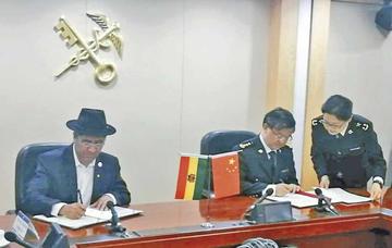 Bolivia firma con China protocolo para la exportación de carne