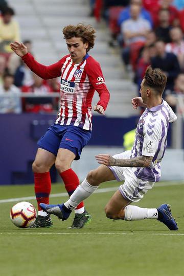 Atlético de Madrid  vence por la mínima diferencia a Valladolid