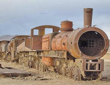 Protegen el museo de  ferrocarriles de Uyuni