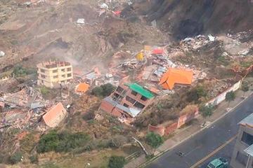 Deslizamiento deja 64 viviendas afectadas y varios damnificados