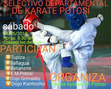 Potosí es sede del campeonato de karate