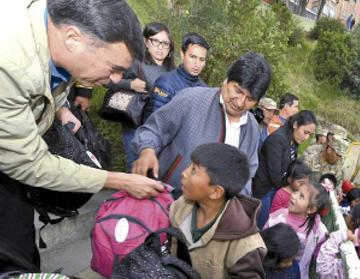La Paz: Evo ratifica apoyo a las víctimas del desastre