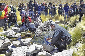 """Evo prefiere """"negociar y dialogar"""" con Chile sobre el agua del Silala"""