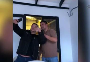 Identifican a otros dos policías que aparecen con Montenegro en un vídeo