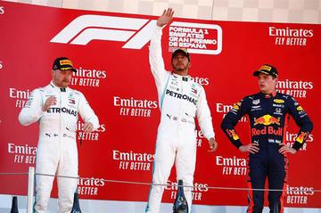 Lewis Hamilton ganó el Gran Premio de España