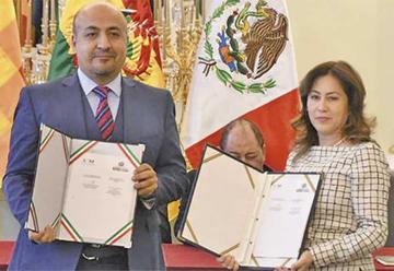 Los gobiernos boliviano y mexicano firman acuerdo de supresión de visas