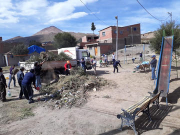 Acción comunal permitió recolectar 5.500 kilos de basura en Chapini