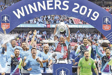Manchester City logró el título de la FA Cup
