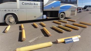 Chile: hallan rollos de tela con marihuana que salieron de Bolivia