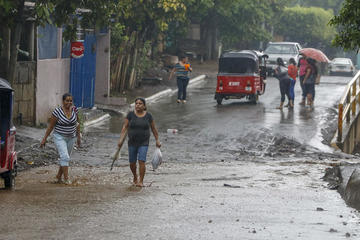 Fuertes lluvias en Nicaragua dejan dos personas fallecidas