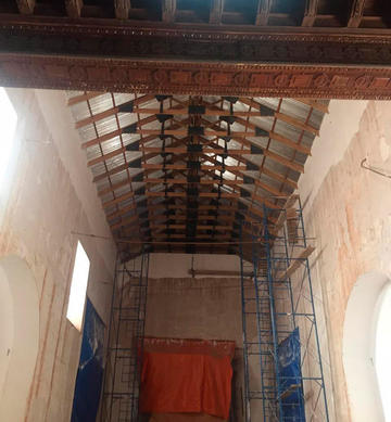 Colocan cubierta de San Agustín