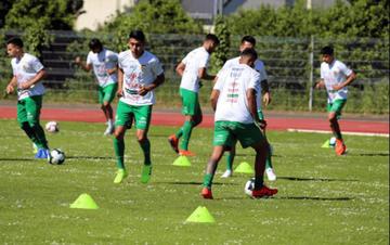 La selección nacional aumentó la intensidad del trabajo en Nantes