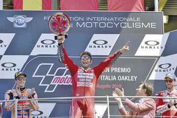 Petrucci ganó el Gran Premio de Italia