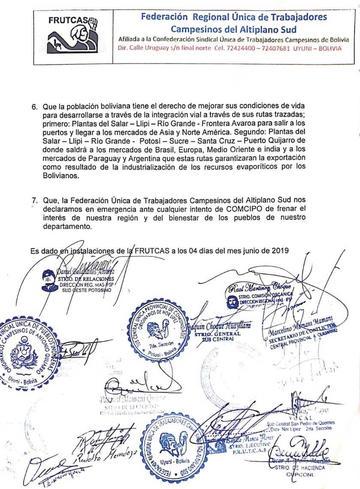 Frutcas desautoriza a Comcipo y apoya proyecto estatal del litio