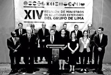 Grupo de Lima sube presión en contra del Gobierno de Maduro