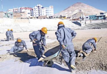 """FBF inspecciona las obras de refacción del estadio """"Potosí"""""""