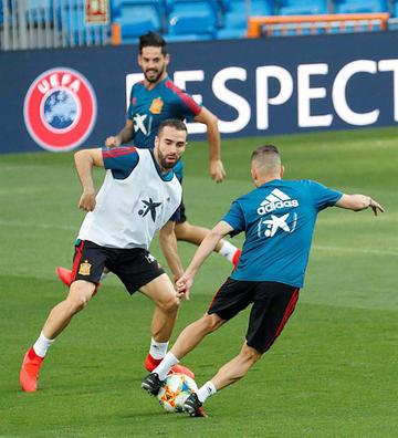 """España y Suecia se miden en el """"Santiago Bernabéu"""""""