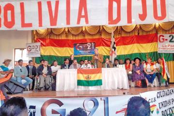 Plataformas advierten desobediencia civil si el MAS gana elecciones