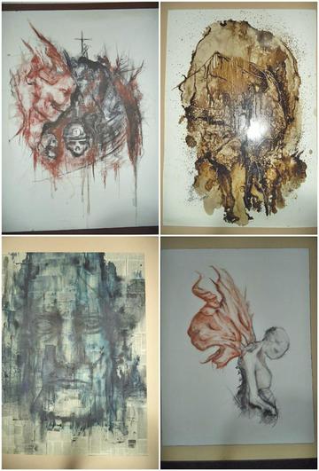 Artista expone obras en materiales innovadores