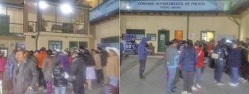 Comerciantes de Villa Banzer atacan a guardias municipales