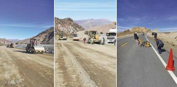 Obras de asfaltado Uyuni-Atocha- Tupiza concluirán el 31 de julio